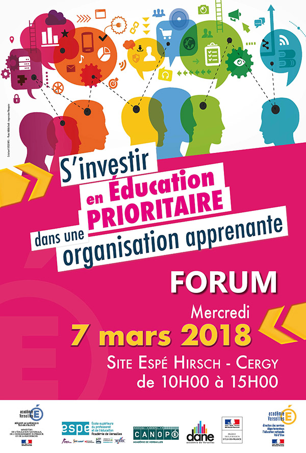 Affiche Education prioritaire val-d'oise 2018