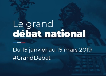 Bannière du Grand débat national