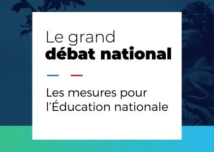 Le grand débat national : les mesures pour l'Éducation nationale
