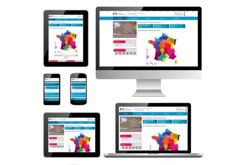 Atlas régional : effectifs d'étudiants en 2013-2014 - site internet adaptatif