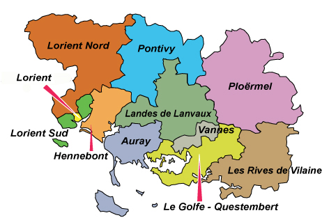 carte des circonscriptions