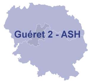 Carte circonscription Guéret 2 - ASH