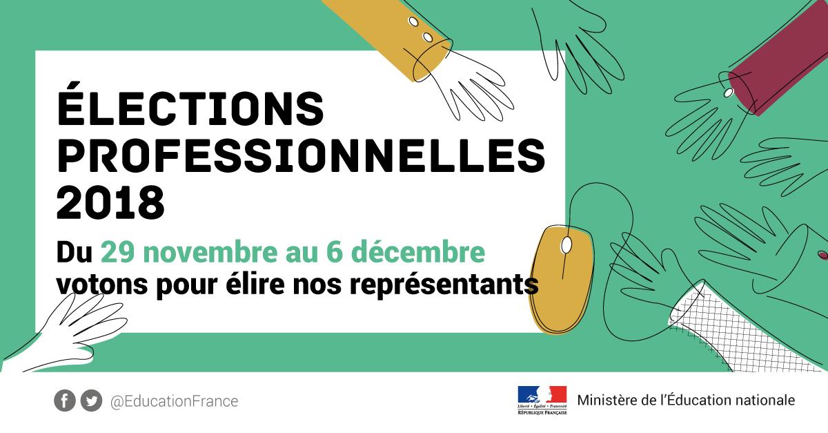 Elections Professionnelles Ministere De L Education Nationale Et