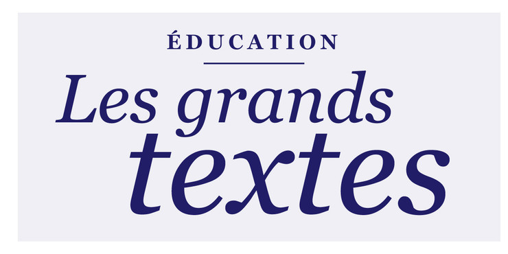 Éducation Les grands textes 1200x600