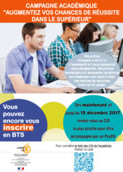 Campagne académique Augnementer vos chances de réussite dans le supérieur