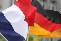 drapeaux français et allemand Reims 2012