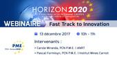Webinaire sur le programme Fast Track to Innovation (FTI) d'Horizon 2020