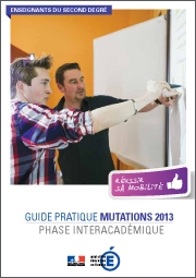 Guide pratique mutations 2013 enseignants 2nd degré