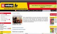 Capture d'écran du site ONISEP