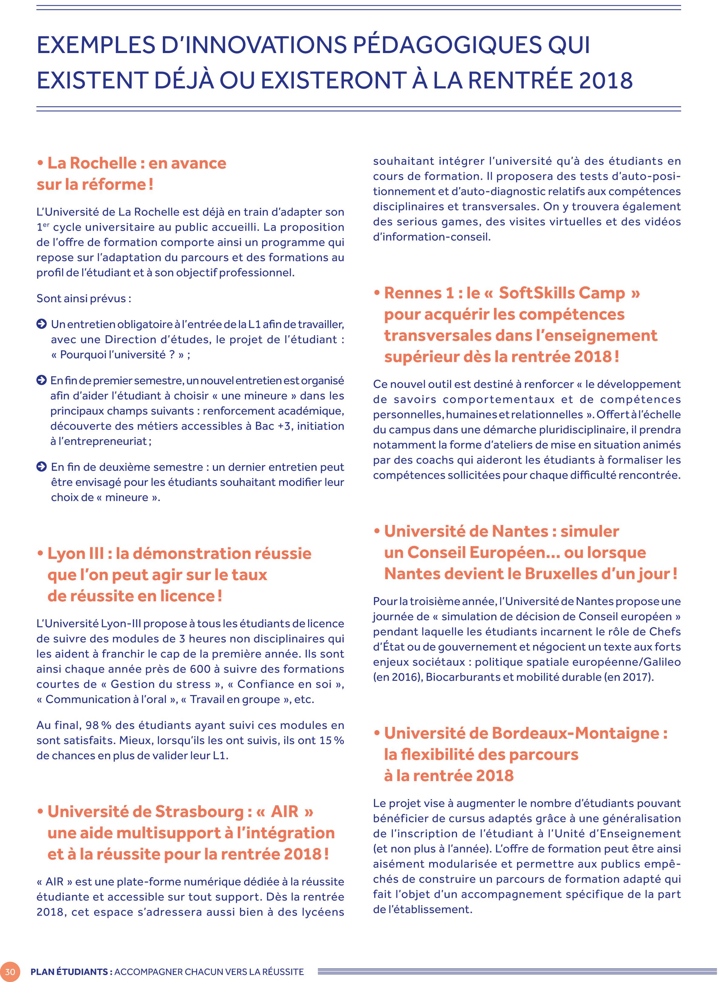 Plan Etudiants Accompagner Chacun Vers La Reussite Ministere De