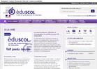 Page d'accueil du site eduscol.education.fr
