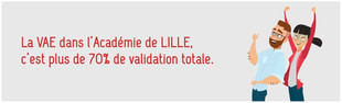 La VAE c'est plus de 70% de validation totale