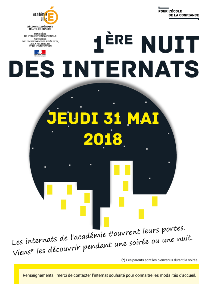 Affiche de la Nuit des internats
