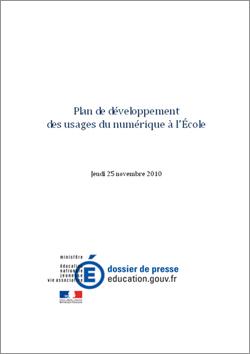 Plan de développement des usages du numérique à l'École (PDF-509.50 Ko-Nouvelle fenêtre