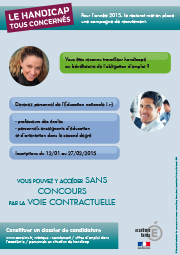 affiche recrutement handicap
