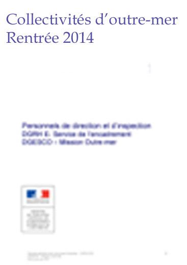 Collectivités d'outres-mer année 2014