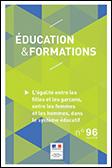Couverture du n° 96 de « Éducation & formations ».