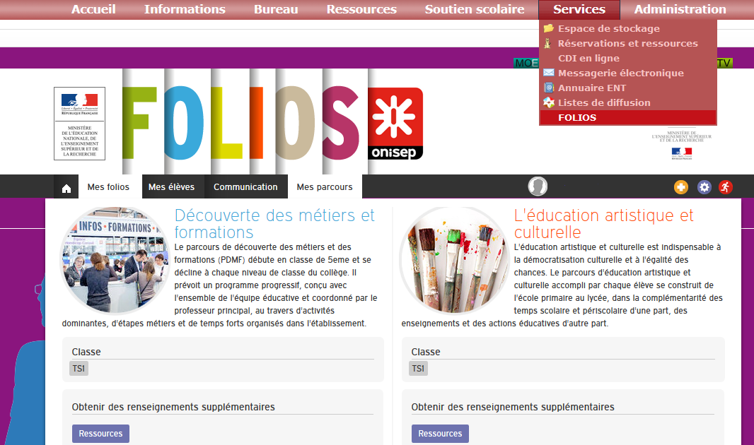 services folios