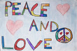 Affiche peace and love collège Jean Vilar Herblay 2019