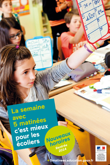 Affiche1 campagne 5 matinées - rythmes scolaires