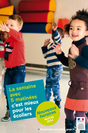 Affiche2 campagne 5 matinées - rythmes scolaires