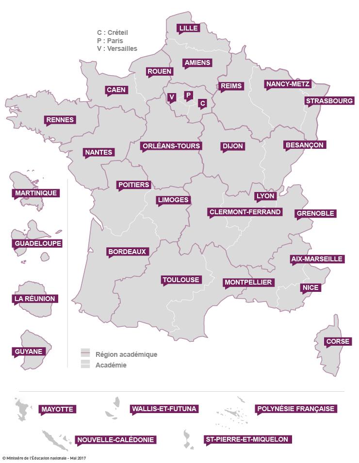 Les Feux De Lamour Calendrier Previsionnel 2019.Les Regions Academiques Academies Et Services