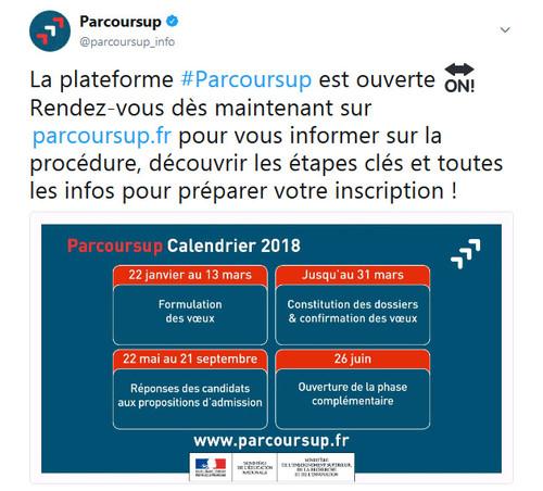 Tweet Parcoursup
